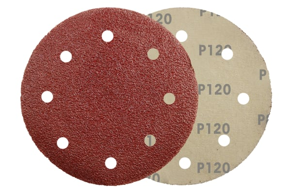 Product image for 150MMX120G HOOK&LOOP SANDING DISC 6 HOLE