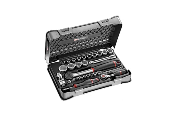 Product image for 1/4' 1/2' SOCKET SET 6P MM R-S.360 31PC