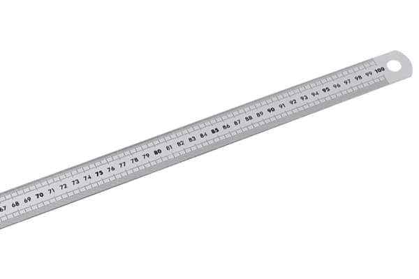 Product image for 300 MM METRIQUE REGLET INOX 2 FACES