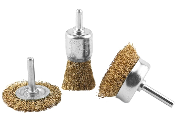 Product image for 3PC SPINDLE MOUNTED WIRE BRUSH SET