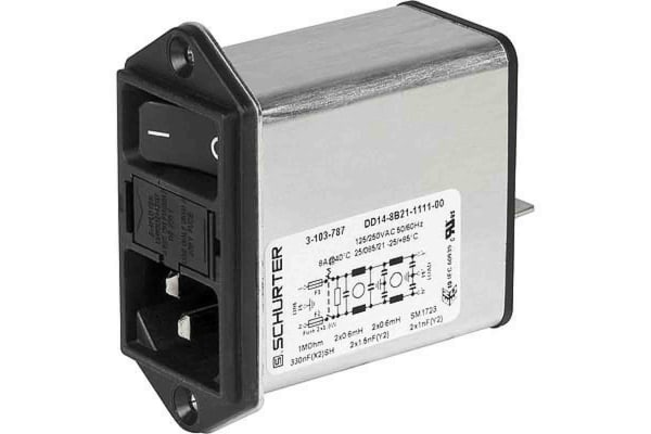 Product image for DD14 POWER ENTRY MODULE W. FILTER 8A M5