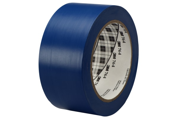 Product image for 3M 764 Blue lane marking tape 50mm x 33m
