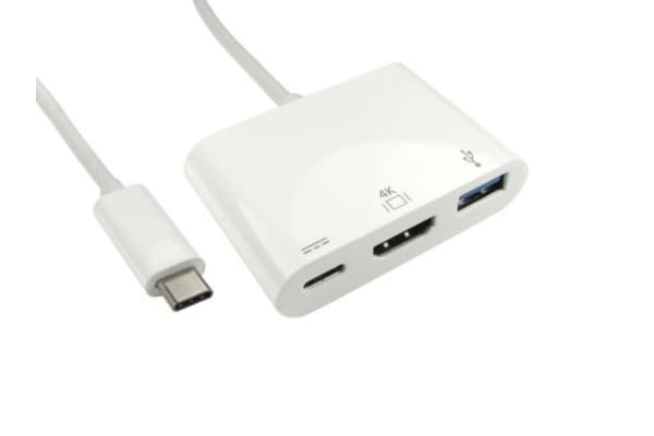 Product image for RS PRO USB C to HDMI Adapter, USB 3.1