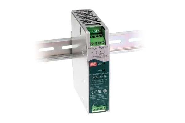 Product image for 20A DIN RAIL TYPE REDUNDANCY MODULE