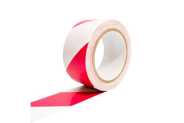 Product image for COBA TAPE WHITE/RED 50MM X 33M