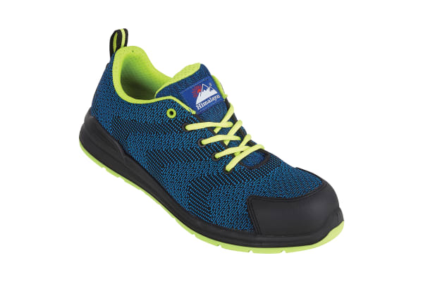 Product image for BLUE M/F S1P FLY KNIT TRAINER SIZE 6.5/4