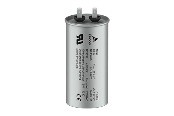 Product image for EPCOS 14μF Polypropylene Capacitor PP 460V dc ± 5%, Screw Mount, B33331V