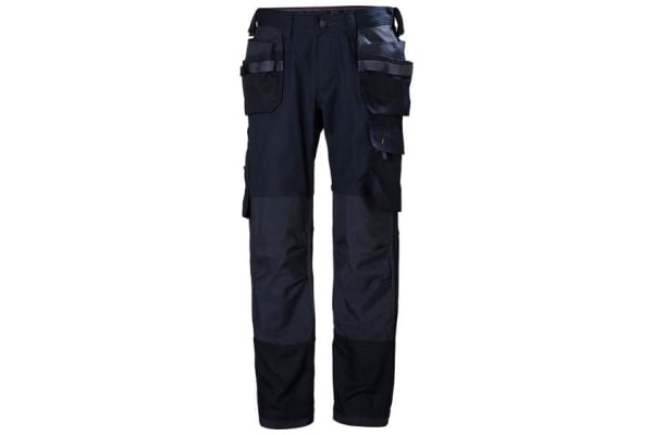 Product image for Helly Hansen Oxford Navy Cotton, Elastane, Polyester Trousers 34in, M Waist