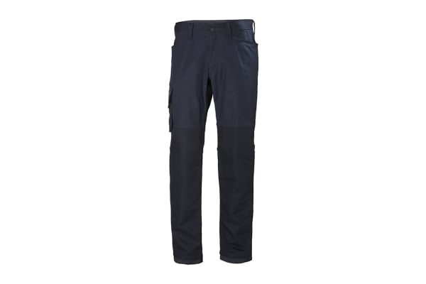 Product image for Helly Hansen Oxford Black Cotton, Elastane, Polyester Trousers 36in, L Waist