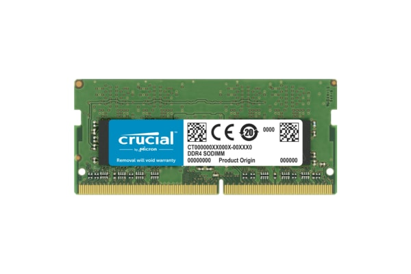 Product image for Crucial 8 GB DDR4 RAM 2666MHz SODIMM 1.2V