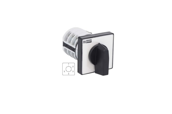 Product image for RS PRO, 1P 5 Position Rotary Cam Switch, 690 V, 20A