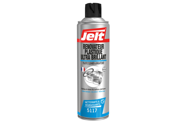 Product image for Jelt RENOVATEUR PLASTIQUE ULTRA BRILLANT Multi-purpose Cleaner 650/500 ml Aerosol