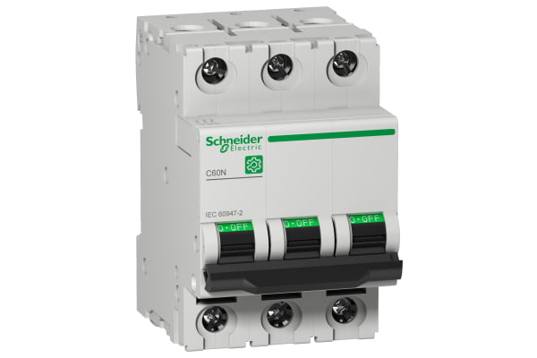 Product image for Schneider Electric Multi 9 16A MCB, 3P Curve C