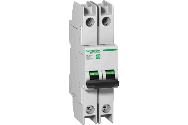 Product image for Schneider Electric Multi 9 15A MCB, 2P Curve D