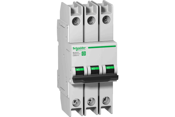 Product image for Schneider Electric Multi 9 15A MCB, 3P Curve D