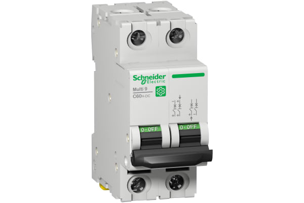 Product image for Schneider Electric Multi 9 40A MCB, 2P Curve C