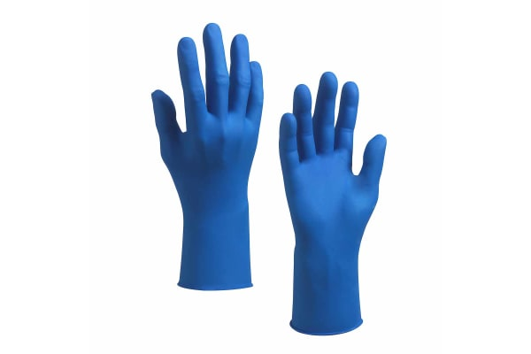 Product image for G10 BLUE NITRILE GLOVES / XL