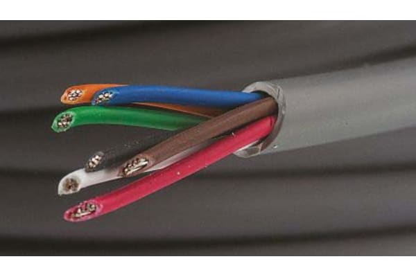 Product image for 18 AWG 7 core 300V unshielded cable 30m