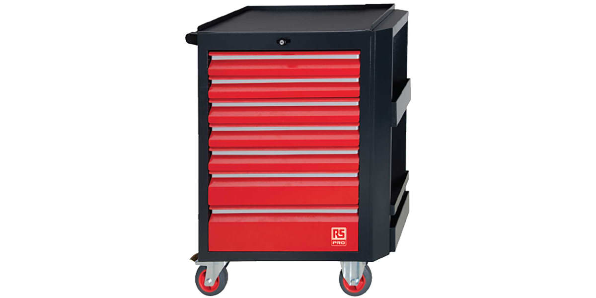 Product image for 7 Drawer Cabinet with 240pc tool content