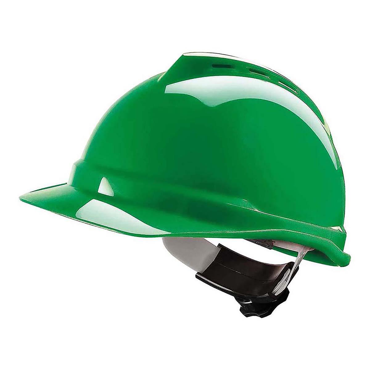 grüner Schutzhelm
