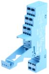 Product image for DPDT DIN rail relay skt - screwless term