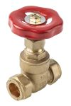 Product image for Gate compression valve,15mm comp