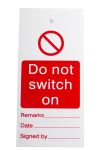 "Product image for Lockout Tag ""Do not switch on"""