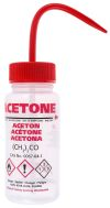 Product image for Wash bottle,250ml,Acetone,red closures