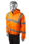 Product image for Hi-Vis Orange Bomber Jacket, M