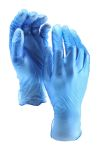 Product image for BLUE PF VINYL GLOVE AQL 4, M