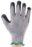Product image for Black/grey cut 5 latex coated glove 8