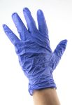 Product image for INDIGO NITRILE DISPOSABLE GLOVES 9.5