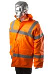 Product image for Hi-Vis Orange Motorway Jacket, M