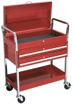 Product image for 2 Level Heavy Duty Trolley 2 Drawers