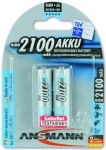 Product image for Ansmann MaxE AA NiMH Rechargeable AA Batteries, 2.1Ah, 1.2V