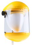 Product image for JSP Clear Flip Up Acetate Face Shield with Brow, Chin Guard , Resistant To Molten Metal