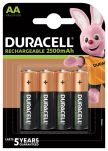 Product image for Duracell Recharge Ultra AA NiMH Rechargeable AA Batteries, 2.4Ah, 1.2V