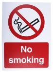 Product image for Plastic No Smoking Prohibition Sign, No Smoking, English