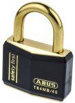 Product image for BLACK KEYED ALIKE BRASS LOCK OFF PADLOCK