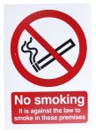 Product image for PP Rigid Plastic No Smoking Prohibition Sign, No Smoking Aganist Law-Sign, English