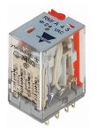 Product image for Carlo Gavazzi, 24V ac Coil Non-Latching Relay 4PDT, 5A Switching Current Plug In