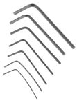 Product image for 7 piece L-shape hex key set,0.028-3/32in