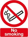 Product image for PVC label 'No smoking',200x150mm