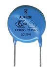 Product image for Cap Disc Safety X1/Y2 300Vac 4.7nF 7.5mm