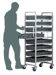 Product image for 8 Tier Euro Container Trolley