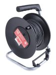 Product image for Test Lead Extension Reel, 50 m, Black