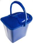 Product image for Blue bucket with wringer, 15 litre