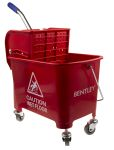 Product image for 20 Litre Red Bucket Mopping Trolley