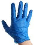Product image for G10 BLUE NITRILE GLOVES / L