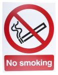 Product image for PP Rigid Plastic No Smoking Prohibition Sign, No Smoking, English